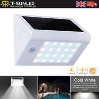 Solar Power Motion Sensor 20 LED Wall Light Spotlight Security Garden Cold White