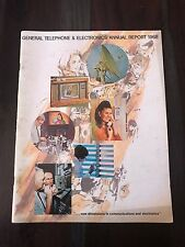 General Telephone & Electronics Gte Vintage Annual Report 1968 Free & Fast Ship