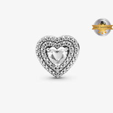 Leveled Hearts Charm For Bracelet, Birthday Gift And Mothers Day Gift 925 Silver