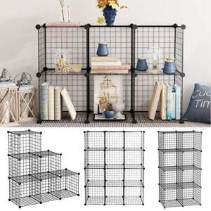 6/8/12 Cube Metal Shelving Bookshelf Bookcase Toy Storage Cabinet Interlocking
