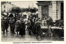 Momentaufnahme aus Russisch-Polen Soldaten am Teeverkaufsstand Bilddokument 1915