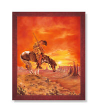 Barry Hart End of the Trail Western Horse Cowboy Grave Print Poster 19x13