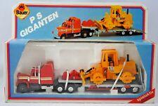 BAUER PS GIGANTEN KENWORTH Truck & Low-Loader Trailer with BULLDOZER Load MIB