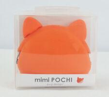 mimi Pochi Silicone Coin Purse Cat - Orange