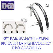 Coppia Parafanghi Inox Cromato Bici Pieghevole Bimbo Graziella 14/'/' ? 12/'/' ?
