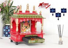 Home Mandir Pooja Ghar Mandapam for Worship Wooden Handcrafted Hindu Temple KI15