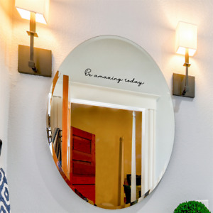 Be Amazing Today Decal for Bathroom Bedroom Vanity Mirror Inspirational sticker