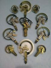 SET OF 11 Bronze & Brass Steampunk Lamp Parts.Modern Industrial Home Decor Ideas