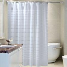Weiß Duschvorhang Badewannenvorhang Bad Vorhang Hotel Dekoration Wannenvorhang