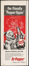 Vintage magazine ad DR PEPPER Frosty Man Frosty 1957 clown pictured Pepper Upper