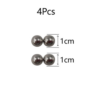 2 Pcs Fake Nose Ring Goth Punk Lip Ear Nose Clip On Piercing Nose Magnetic Orbs