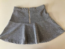 Topshop de sal y pimienta Peplum Hem Mini falda tamaño UK 10