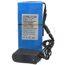 DC 12V 20000mAh Li-ion Super Rechargeable Battery Pack + AC Charger w/ EU Plug