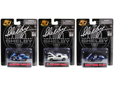 Carroll Shelby 50th Anniversary Set Of 3 1/64 Diecast Shelby Collectibles 16403