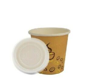 🥃 500 BICCHIERI DI CARTA 75 ml CHICCO CAFFE CON COPERCHI BIODEGRADABILI ASPORTO