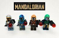 Mandalorian WARRIORS 4 Pc Minifigure Lot for Star Wars Lego USA Seller