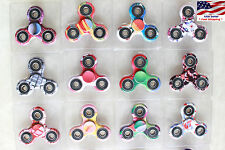 3x Fidget Hand Tri Spinner Camouflage Camo Color Toy Girls Boys Kids Party Favor