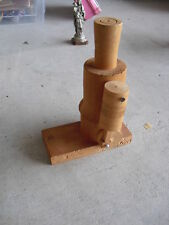 Unique Vintage Wood Steam Engine Toy LOOK