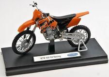 BLITZ VERSAND KTM 450 SX Racing orange Welly Motorrad Modell 1:18 NEU & OVP 1