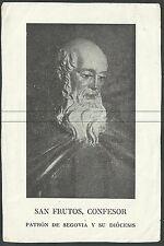 Estampa antigua de San Frutos Confesor andachtsbild santino holy card santini