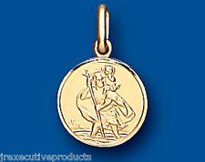 St. Christopher Pendant Yellow Gold Saint Christopher 12mm