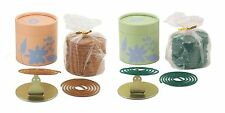 100 INCENSE COILS (2 HOUR) in 50 COIL CANS with HOLDERS - 1 or 2 FRAGRANCES