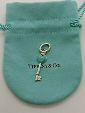 Tiffany & Co. Sterling Silver Enamel Heart Key Charm Pendant