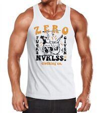 Caballeros Tank-Top Zero Fucks given Skull pin up girl no me importa camisa muscular Muscle