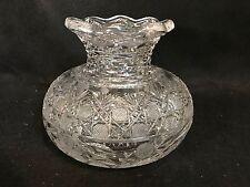 American Brilliant Cut Glass-Center Piece Flower Vase-