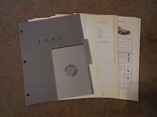 1994 MERCURY GRAND MARQUIS DEALERSHIP SALESMANS ALBUM BROCHURE SHEETS SET