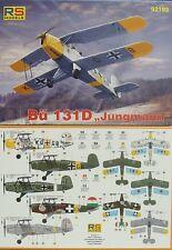 Bücker Bü-131 D Jungmann, Fronteinsatz, 1:72, Plastik, RS-Models, Neu ,