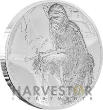 STAR WARS CLASSICS: CHEWBACCA - 1 OZ. SILVER COIN - WITH OGP COA - 8TH IN SERIES