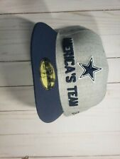 7 1/2 Dallas Cowboys CAP/HAT AMERICA'S TEAM THEM BOYS GREY/BLUE SNAPBACK