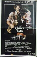 The Cotton Club Original Single Sided Video Poster A Richard Gere Gregoey Hines
