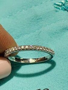 $2300 Tiffany & Co. Soleste Diamond Platinum Wedding Band Ring