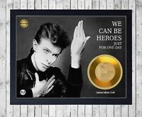 DAVID BOWIE HEROES CUADRO CON GOLD O PLATINUM CD EDICION LIMITADA FRAMED