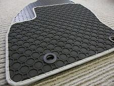 Lengenfelder Gummimatten für Mercedes Benz W211 S211 + RAND SILBER + Fußmatten