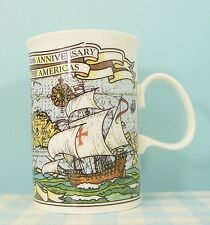 Dunoon England Fine Bone China mug cup becher beker Columbus Discovery Americas