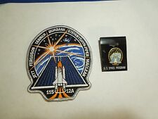 Lot of 2 NASA Space Shuttle Mission STS-115 12A Atlantis Iron On Patch and Pin