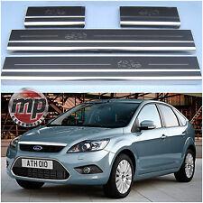 Ford Focus 05-10 5 Puertas Coche Acero Inoxidable Placa de Puerta Umbral Protectores-K37