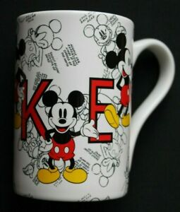 Disney Mug featuring Mickey Mouse in sketches and different poses. Unused