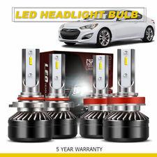 TURBO SII 120W Focused LED Headlight High/Low Beam 9005+H11 6000K 4PCS Bulbs DWS