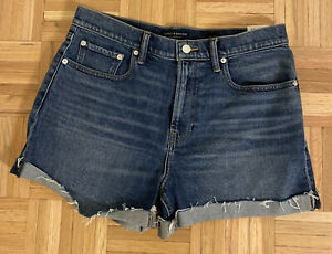 NWT Lucky Brand Womens Relaxed Fit Shirts Blue Denim Jean Shorts Sz 10/30