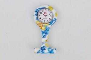 Silikon Schwesternuhr Krankenschwesteruhr Pulsuhr Uhr mit Anstecknadel NEU