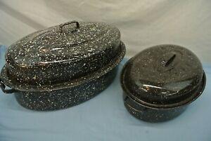 LOT OF 2 ROASTERS ROASTING PANS