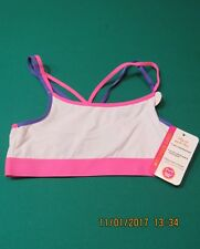 Maidenform Sport Girls White Soft Stretch Athletic Bra Large L Mesh NEW 36 A