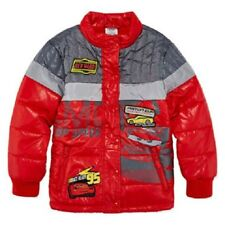 Disney Collection Cars Boy's Red Midweight Puffer Jacket Coat Boy Size 4 NEW
