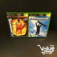 Microsoft Xbox Amped Video Game Lot (3 Games) - Amped 1 & 2