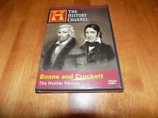 HUNTER HEROES DANIEL BOONE DAVY CROCKETT Hunt Hunting History Channel DVD NEW