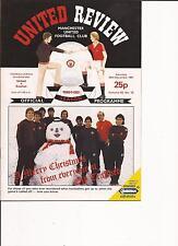 Manchester United v Everton - Div 1 - 26/12/1981 - Football Programme